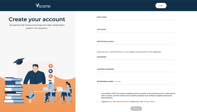 2- create your account