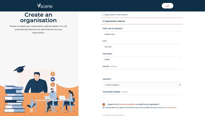 4.4 - creation of a child organisation