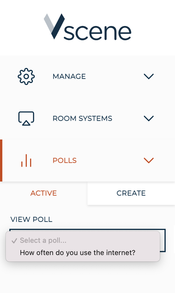 5- select a poll
